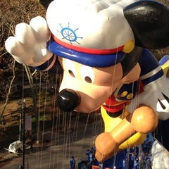 Photo taken at Macy's Parade Balloon Inflation 2012 by Ariel H. on 11/22/2012