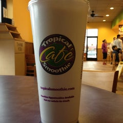 Photo taken at Tropical Smoothie Cafe by Aaron C. on 2/23/2013