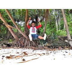 Photo taken at Sumur Tiga Beach. by Ridhony P. on 8/8/2014