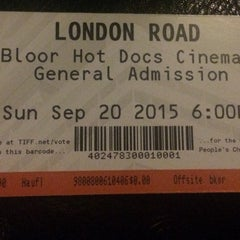 Photo taken at The Bloor Hot Docs Cinema by Jennifer H. on 9/20/2015