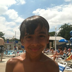 Photo taken at University Park Pool by Maria M. on 7/28/2013