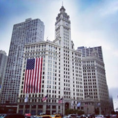 Photo taken at Wrigley Building by Don't Panic M. on 7/4/2013