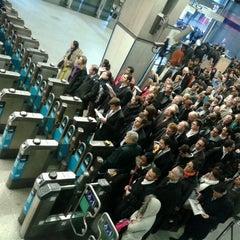 Photo taken at London Waterloo Railway Station (WAT) by Margareta O. on 11/27/2012