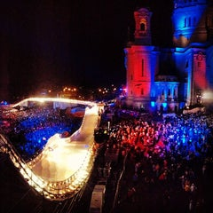 Photo taken at Red Bull Crashed Ice 2014 by Wes N. on 1/27/2013