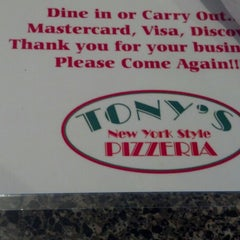 Photo taken at Tony's Pizzeria by Janelle W. on 12/15/2012