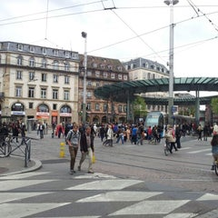 Photo taken at Place de l'Homme de Fer by Martin K. on 9/29/2012
