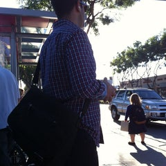 Photo taken at Santa Monica & Fairfax Bus Stop by Vance H. on 9/27/2013