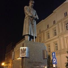 Photo taken at Pomnik Marszałka Piłsudskiego / Piłsudski Monument by Eric A. on 6/12/2013