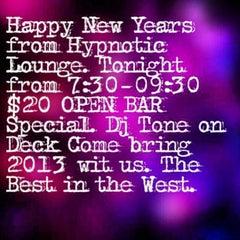 Photo taken at Hypnotic Lounge by Julius F. on 12/31/2012