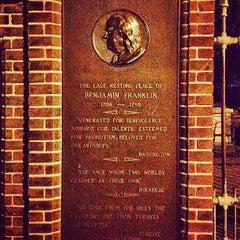Photo taken at Benjamin Franklin's Grave by Joseph B. on 8/28/2013