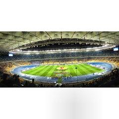 Photo taken at НСК «Олімпійський» / Olimpiyskiy Stadium by Евген К. on 9/19/2013
