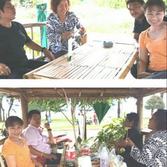 Photo taken at ชายทะเลปากน้ำ by ณัฏฐนันท์ ค. on 7/2/2014