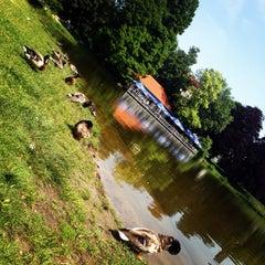 Photo taken at Lietzensee by Lisa ליסה M. on 6/18/2013