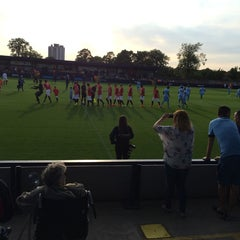 Photo taken at Hyde United FC by Pau P. on 8/7/2014