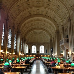 Photo taken at Boston Public Library by Kate D. on 1/13/2013