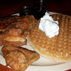 Photo taken at Roscoe's House of Chicken and Waffles by Patrick S. on 10/23/2012