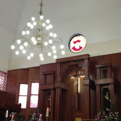 Photo taken at Gereja St Robertus Bellarminus Cililitan by Reno Y. on 6/1/2013