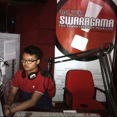 Photo taken at Swaragama 101.7 FM by andina d. on 11/2/2012