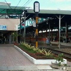 Photo taken at Stasiun Medan by Ekosuke R. on 11/26/2012