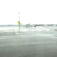 Photo taken at Blue Danube Airport Linz (LNZ) by Bader A. on 2/20/2013