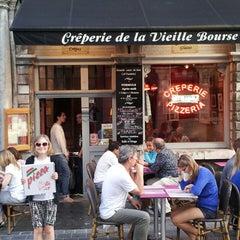 Photo taken at La Crêperie de la Vieille Bourse by Tim W. on 7/28/2013
