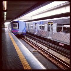 Photo taken at Estação Portuguesa-Tietê (Metrô) by Renan O. on 11/26/2012