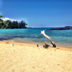 Photo taken at Waialea Beach (Beach 69) by Bhav on 6/16/2013