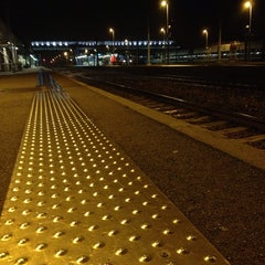 Photo taken at Gare SNCF de La Roche-sur-Yon by Ludivine on 12/2/2014