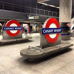 Photo taken at Canary Wharf London Underground Station by Jiri K. on 10/7/2012