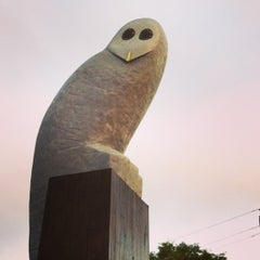 Photo taken at Owl Statue by Gary L. on 12/21/2012