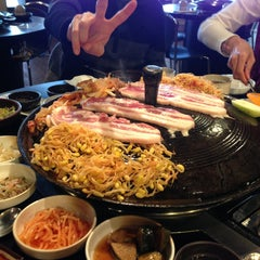 Photo taken at Honey Pig Korean BBQ by Johnson K. on 2/10/2013