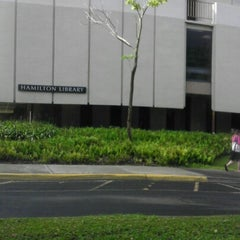 Photo taken at Hamilton Library by Jawz R. on 9/20/2012