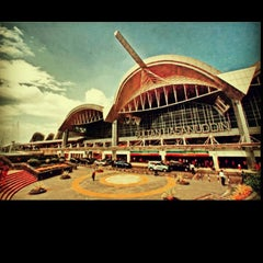 Photo taken at Sultan Hasanuddin International Airport (UPG) by dhiny d. on 5/4/2013