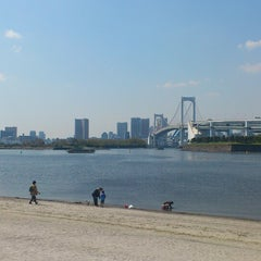 Photo taken at お台場海浜公園 (Odaiba Marine Park) by Mihhail S. on 4/13/2013