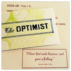 Photo taken at The Optimist by Kim N. on 4/10/2013
