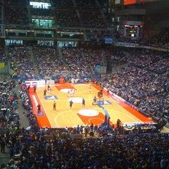 Photo taken at Barclaycard Center - Palacio de Deportes de la Comunidad de Madrid by Ana F. on 5/6/2012