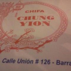 Photo taken at Chifa Chung Yion by Oscar Martín L. on 5/1/2012