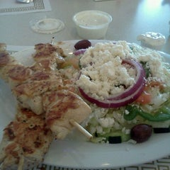 Photo taken at Mykonos Grill by Amber F. on 4/27/2012
