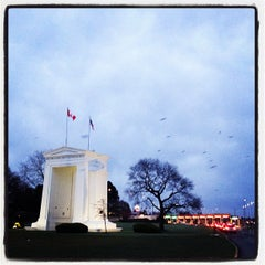 Photo taken at Peace Arch Border Crossing by Dice-k M. on 3/31/2012