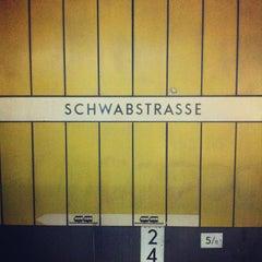 Photo taken at S Stuttgart Schwabstraße by Johannes R. on 7/29/2012
