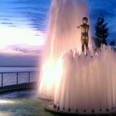 Photo taken at Father & Son Fountain by Ashley P. on 10/10/2011