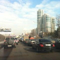 Photo taken at Ленинский проспект by Evgeny K. on 3/2/2012