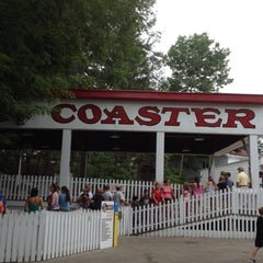 Photo taken at Rollo Coaster  @idlewildpark by mary e. on 7/13/2012