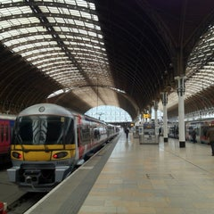 Photo taken at Heathrow Express Train - Paddington [PAD] to Heathrow [HXX] by Yusuke y. on 3/31/2012