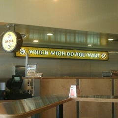 Photo taken at Which Wich? Superior Sandwiches by Jerry F. on 4/17/2012
