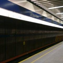 Photo taken at Metro Ursynów by Liuba P. on 5/14/2013
