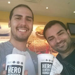 Photo taken at Hero Certified Burgers by Sean G. on 10/11/2013