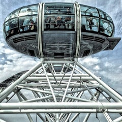 Photo taken at The London Eye by Arya S. on 7/23/2013