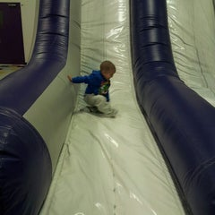 Photo taken at Bounce U by Paul L. on 2/18/2013
