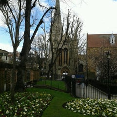 Photo taken at St Mary Abbots Gardens by Gareth C. on 3/29/2013
